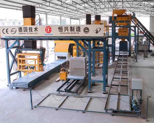 泡沫混凝土砌块生产线|恒兴发泡混凝土砌块生产线设备