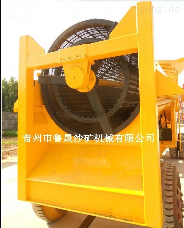 山東省大型移動式淘金設備
