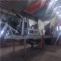 轮胎式移动破碎站 矿山建材移动式破碎机