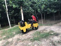 雙輪載人式壓路機小型柴油碾地機